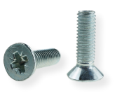 METRIC SCREW M6, FLAT HEAD, PZD DRIVE