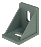 INTERNAL ANGLE BRACKET, BEAN HOLES, PLASTIC, GREY