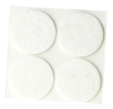 ADHESIVE FELT PADS FOR FURNITURE DIAM. 45 MM WHITE