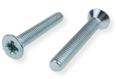 METRIC SCREW M10, FLAT HEAD, PZD DRIVE