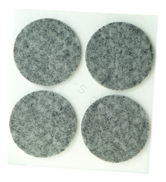 ADHESIVE FELT PADS FOR FURNITURE DIAM. 40 MM GREY