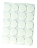ADHESIVE FELT PADS FOR FURNITURE DIAM. 20 MM WHITE
