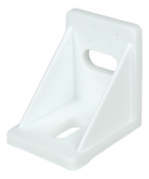 INTERNAL ANGLE BRACKET, BEAN HOLES, PLASTIC, WHITE