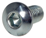 METRIC SCREW WITH ROUND HEAD, HEX DRIVE M6 X 12 MM