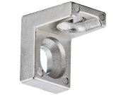 SHELF SUPPORT WITH 2 HOLES, CORNER, NICKEL PLATED