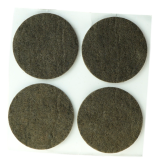 ADHESIVE FELT PADS FOR FURNITURE DIAM. 45 MM BROWN