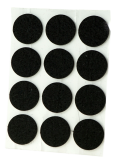 ADHESIVE FELT PADS FOR FURNITURE DIAM. 24 MM BLACK