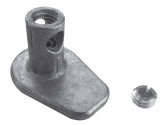 HEIGHT ADJUSTER M8 WITH CONNECTOR, RANGE 0 - 10 MM