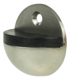 SCREW WATCH STOP WITH RUBBER BUMPER, STAINLESS STEEL
