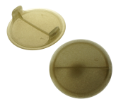 NYLON COVER CAP WITH 2 WINGS DIAM 40 MM, GOLD COLOUR