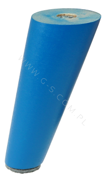BEECH WOODEN LEG, CONE DESIGN, H - 150 MM, ANGLE, BLUE LACQUERED