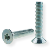METRIC SCREW M6, FLAT HEAD, SW-4 DRIVE