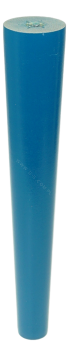 BEECH WOODEN LEG, CONE DESIGN, H - 200 MM, STRAIGHT, BLUE LACQUERED