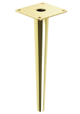 STEEL LEG, CONE DESIGN, STRAIGHT, H - 230 MM, MOUNTING PLATE, BRASS COLOUR