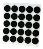 ADHESIVE FELT PADS FOR FURNITURE DIAM. 20 MM BLACK