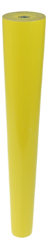BEECH WOODEN LEG, CONE DESIGN, H - 250 MM, STRAIGHT, YELLOW LACQUERED